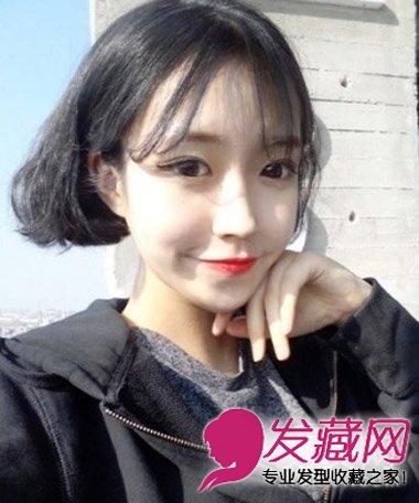 流行韩式空气刘海 适合学生妹子的发型(3)图片