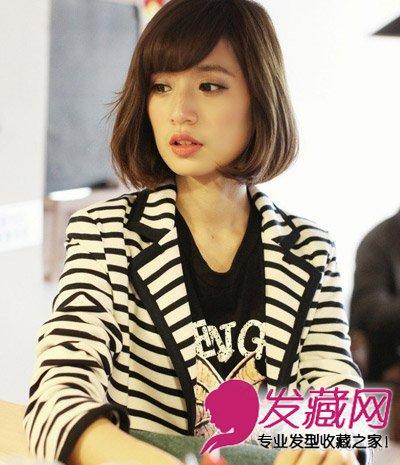 【图】短发的斜刘海女生发型
