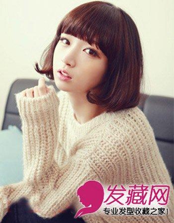 齐刘海的波波头短发发型 风格百变超流行
