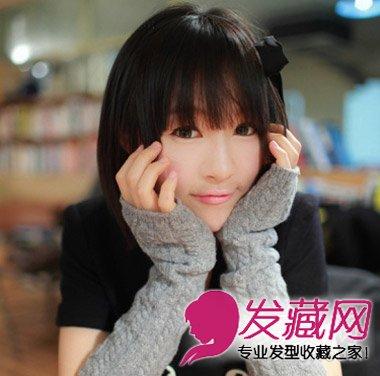 甜美的日系感齐刘海短发发型 可爱气质减龄最流行