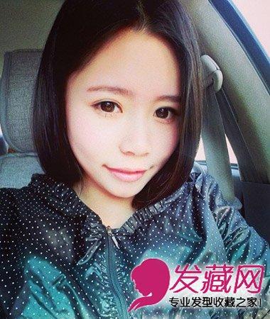 甜美的日系感齐刘海短发发型 可爱气质减龄最流行(3)