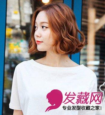 2015流行女学生发型 职场菜鸟齐刘海卷发发型(8)图片