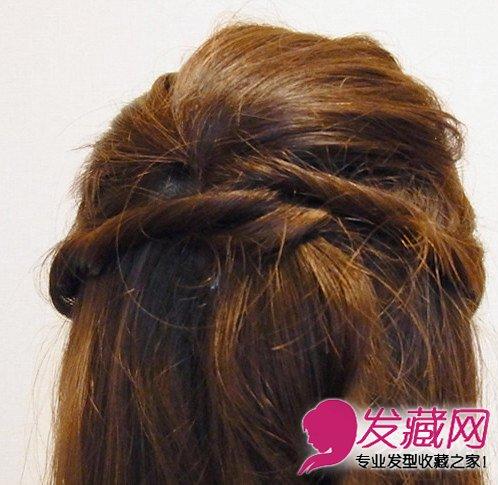 第二款淑女发型扎法教程图解三