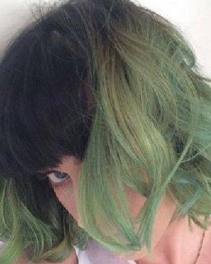 水果姐自曝绿毛发型 明星染发色彩多