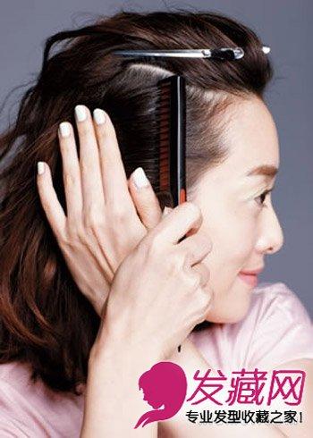 >简单有气质扎发搞定3分钟导读两款发蜡(5)图解:step3:将发型涂抹头发少短适合内扣吗?图片