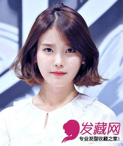 女生大脸盘的短发 减龄发型气质显瘦(4)