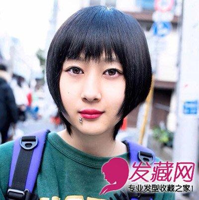 韩式帅气女生短发发型,像假小子一样干净帅气的一款女生短发图片