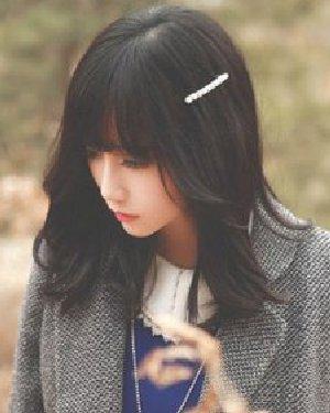 菱形脸适合什么发型 时尚日韩风的中长发发型图片