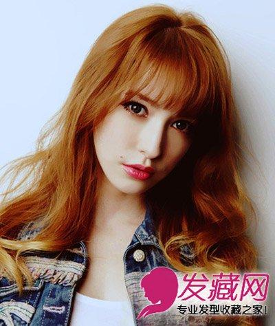 发型网 发型设计 卷发发型 > 适合宽脸型的发型 公主系长发烫发发型图片