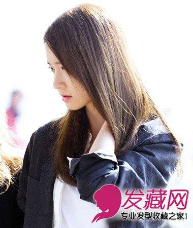 方脸适合淑女范直发发型 小清新范儿的披肩长发(4)图片