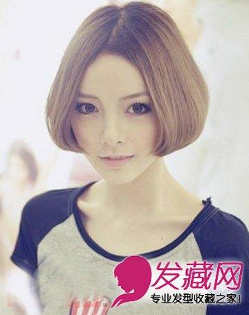 胖脸适合的短发发型 告别大饼脸(4)图片