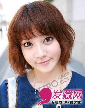 胖脸适合的短发发型 告别大饼脸(7)图片