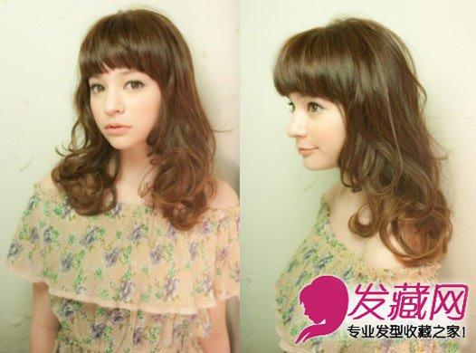 清新中长发烫发发型 深棕色的染发颜色 9图片