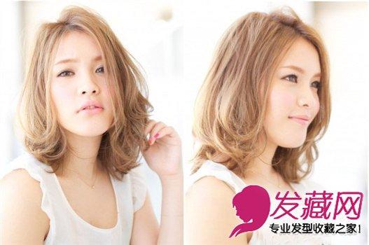 日系甜美发型中长发提升妹子可爱度!