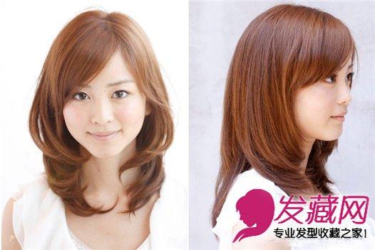 清新中长发烫发发型 深棕色的染发颜色 7图片
