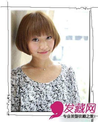日系清新短发设计 自然刘海显小清新图片