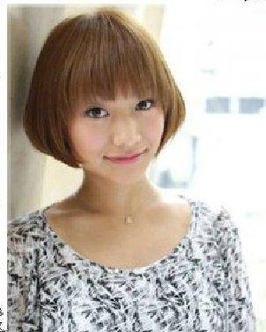 日系清新短发设计 自然刘海显小清新