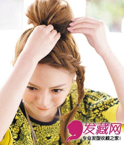 【图】刘海编发发型教程