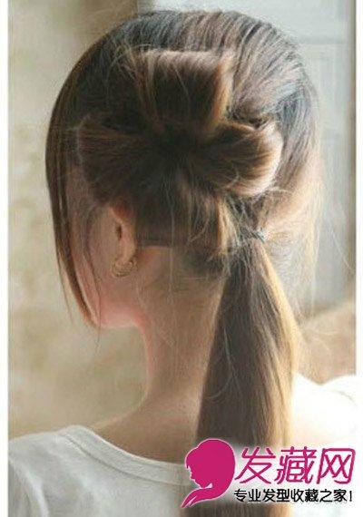 发型网 发型diy 编发教程 > 清甜四叶草编发发型设计 小清新风赚足图片