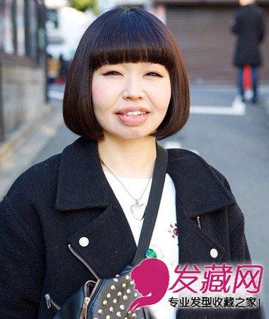 可爱呆萌的齐刘海短发发型 矮个女修颜首选(8)