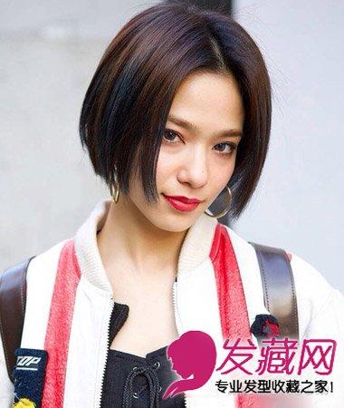 【图】可爱呆萌的齐刘海短发发型
