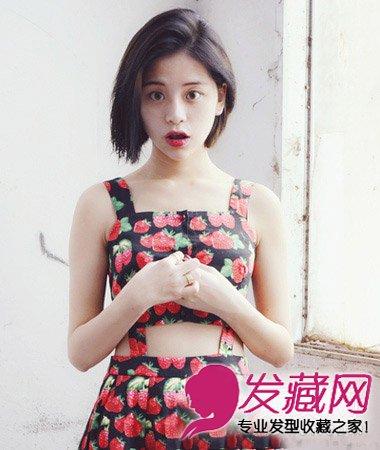短发最能修饰脸型 韩式中分短直发发型设计(2)图片