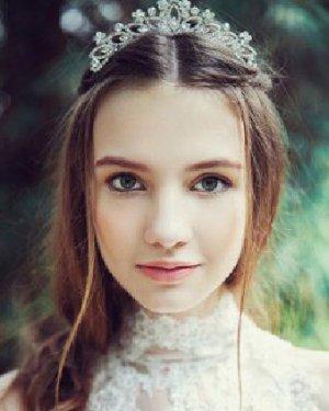 充满仙气的新娘发型图片 公主般高贵优雅