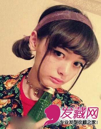 短发怎么扎好看 齐眉的微卷刘海时尚可爱