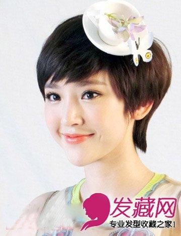 长短发都能扎的苹果头 杨幂苹果头 →现实中剪短发的她更美呢 江疏