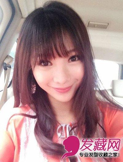女生长发发型 > 柳岩晒齐刘海长发美照 新发型撞脸baby(4)  导读:自拍图片