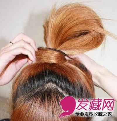 女生发型 女生长发发型 > 女汉子超简单长发扎法图解(7)  导读:步骤三