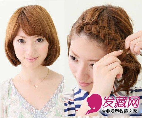导读:短发 编发教程图解一: 把波波头短发梳整齐,从 刘海 开始编织