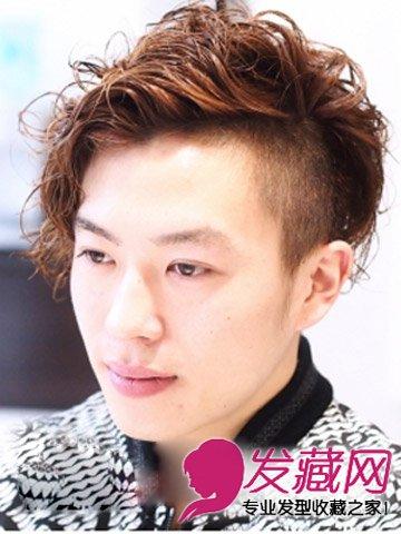 男圆脸适合什么短发 时尚朋克发型设计图片(8)图片