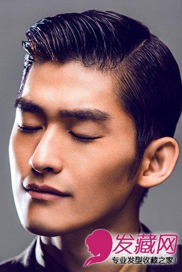 花样发型发际超帅这款露额的男生短发,明显的发型线,用挑夫神马发胶图片