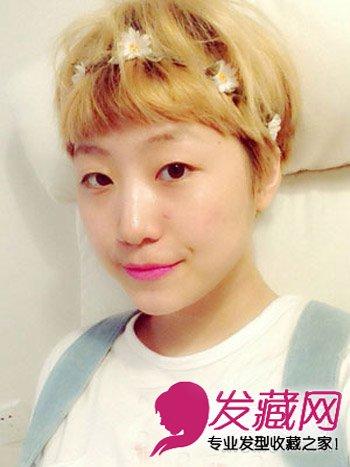 导读:很有日系感的一款 短发发型 ,蓬松的齐刘海短发搭配浅色系 染发图片