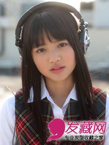 日系纯美校园发型 清新可爱的校园发型(8)