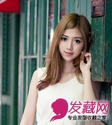 长刘海发型更显唯美气质 什么脸型最适合留中分(2)图片