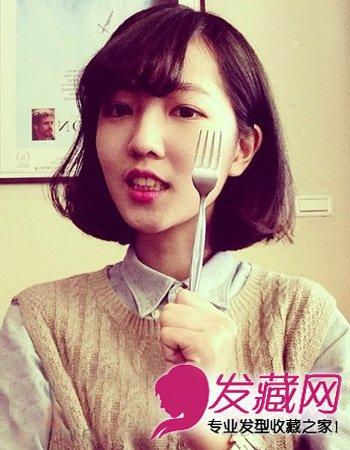 > 韩式发型怎么烫 小清新齐肩发烫发最时尚(4)  导读:可爱的学生 发型