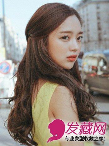 试试侧分卷发吧 →韩式甜美中长发烫发 方脸适合的发型设计 →方脸