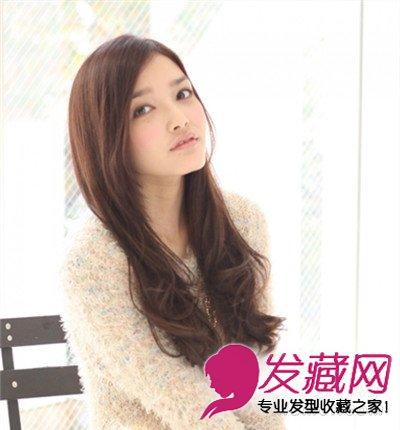 圆脸适合的长发发型 时尚卷发萌萌哒(2)图片