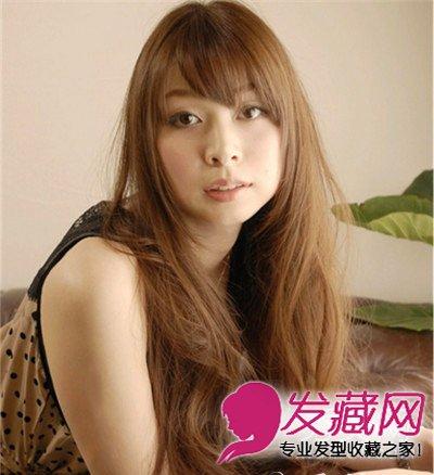 圆脸适合的长发发型 时尚卷发萌萌哒(4)图片