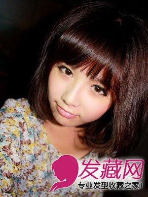 女生胖圆脸适合什么发型 最佳的瘦脸短发发型(3)图片
