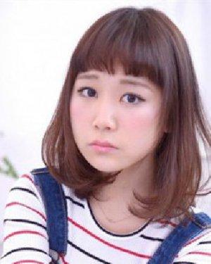 圆脸适合的波波头 呆萌甜美短发发型图片