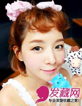 齐刘海怎么弄好看 韩式可爱的短卷发(3)