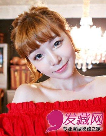 齐刘海新娘发型推荐,编发,长发,短发,盘 →常见就是齐刘海发型 女生图片