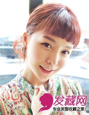 齐刘海怎么弄好看 韩式可爱的短卷发(5)