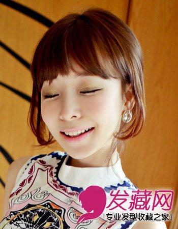 齐刘海怎么弄好看 韩式可爱的短卷发(8)