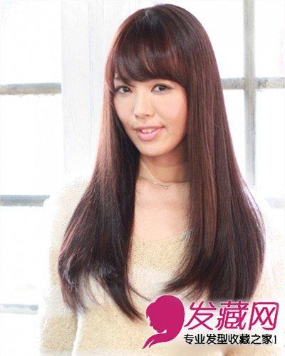 菱形脸适合什么发型 长发瘦脸最显女人味(8)