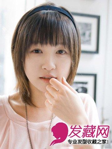 女生长发扎法 齐刘海可爱呆萌(6)  导读:俏皮可爱的日系齐刘海 短发图片
