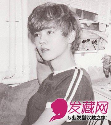 英俊帅气的鹿晗发型 可爱卷发似画中人(3)